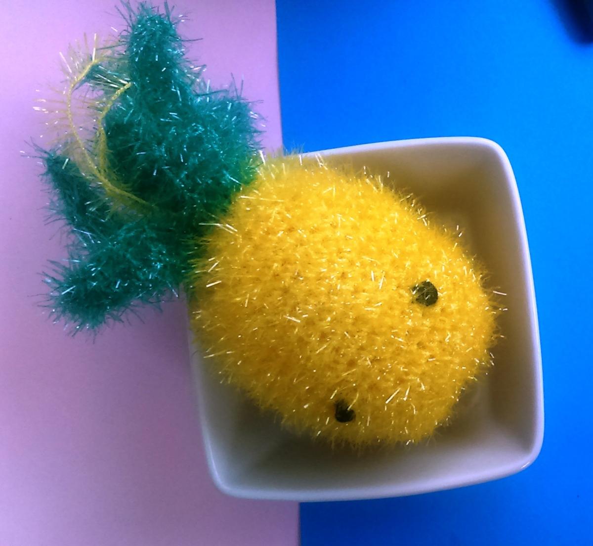 DIY crochet : l'ananasponge ou tawashi tropicale