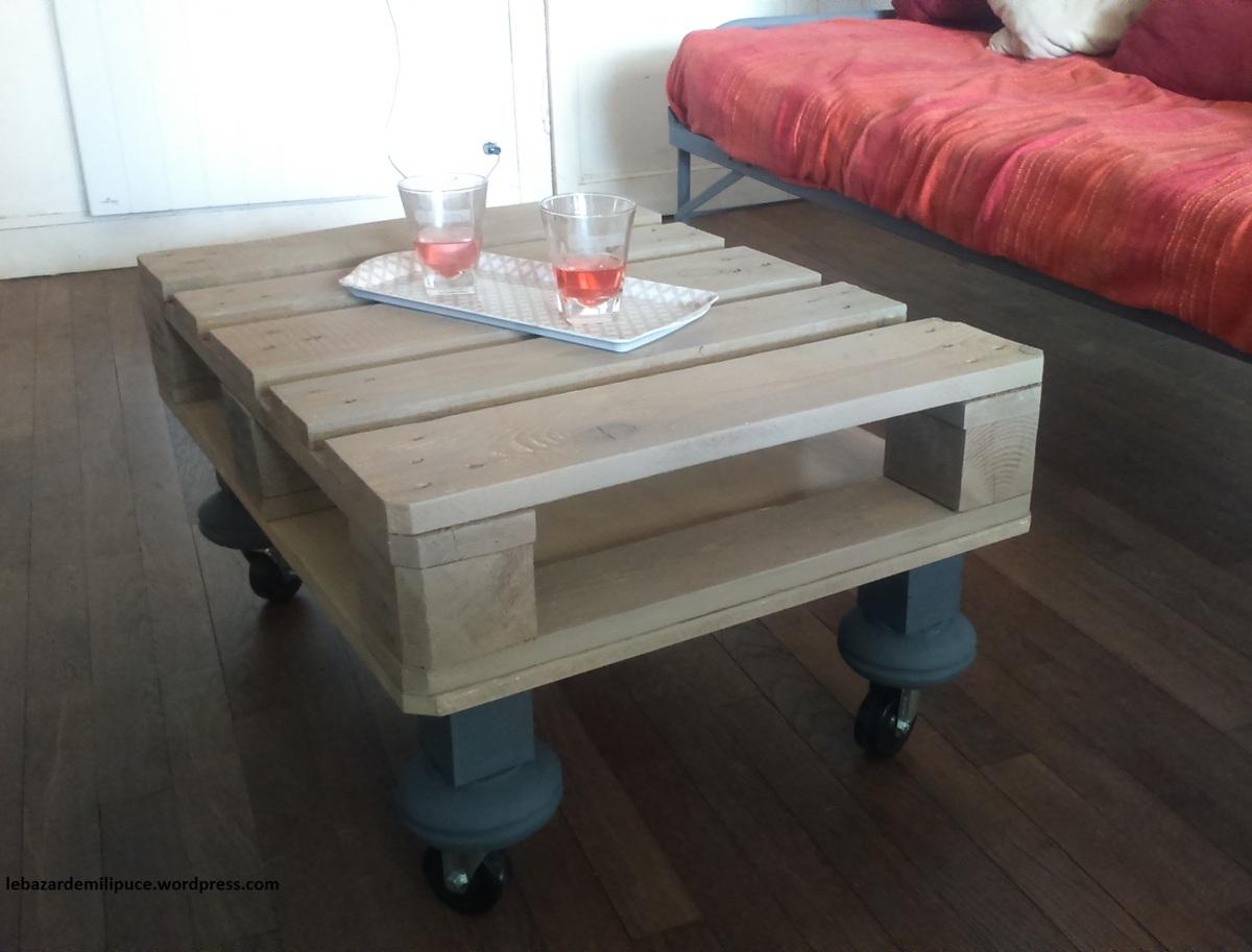 J ai enfin transform ma palette europe en table basse - Table basse en palette europe ...