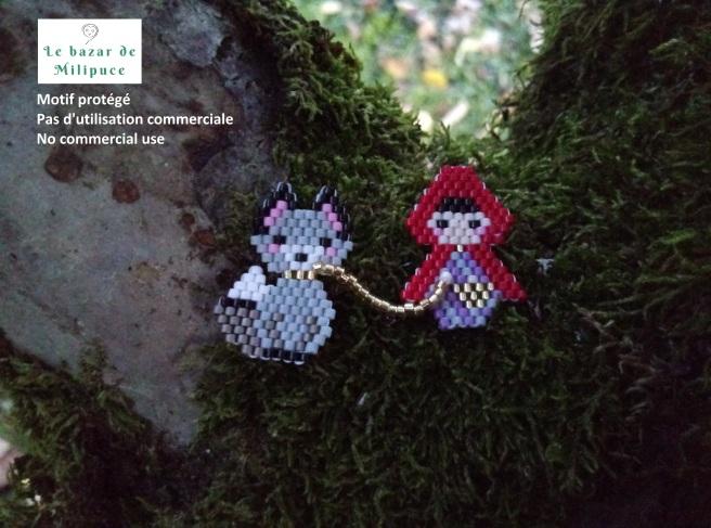 chaperon rouge et loup se promènent le bazar de milipuce motif protégé.jpg