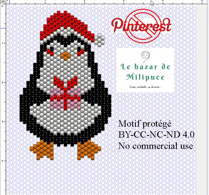 pingouin peyote noel le bazar de milipuce tuto.png