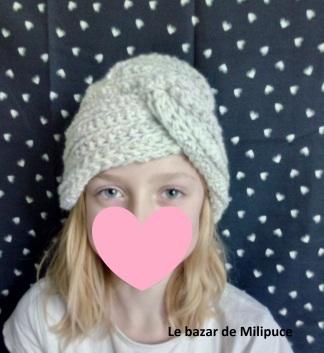 turban au crochet par le bazar de milipuce 2