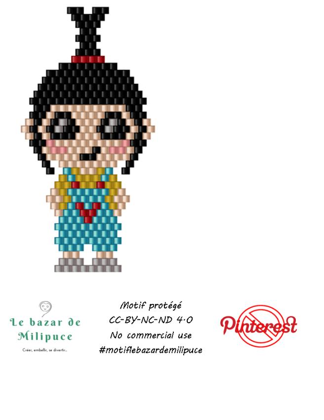 petite fille mimi avec bead tool version 1 par le bazar de milipuce