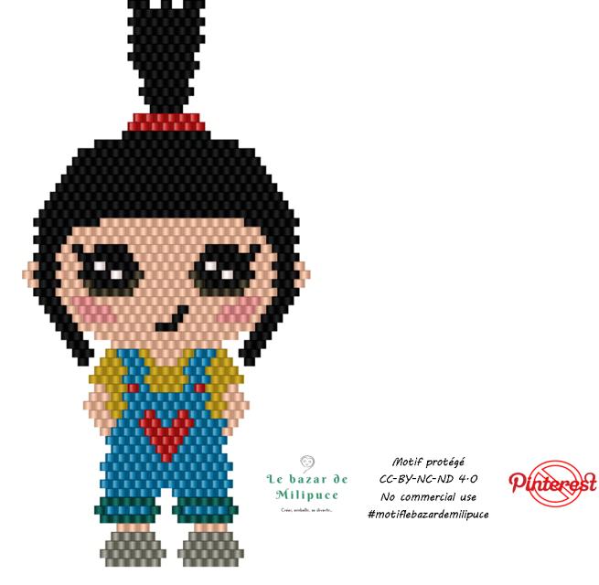 petite fille mimi avec bead tool version 2 par le bazar de milipuce