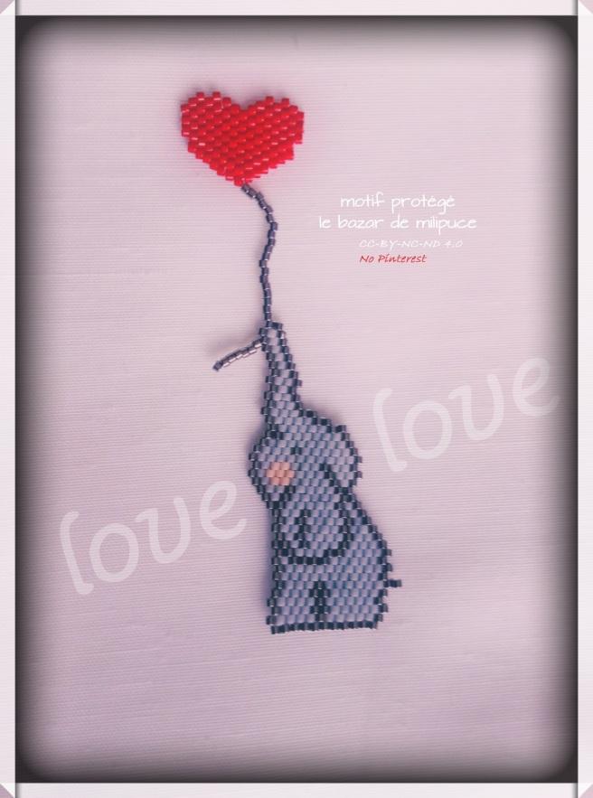 éléphant saint valentin le bazar de milipuce2