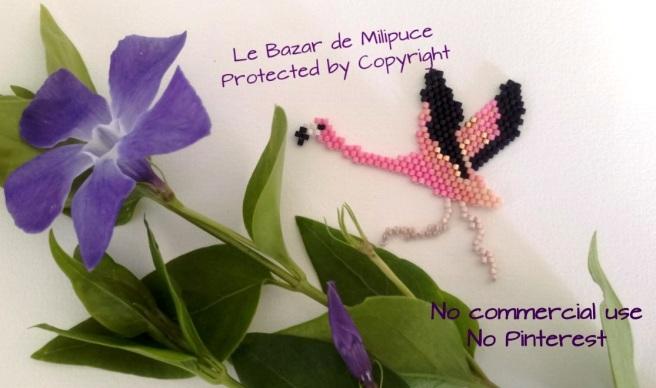 le bazar de milipuce flamant rose motif protégé