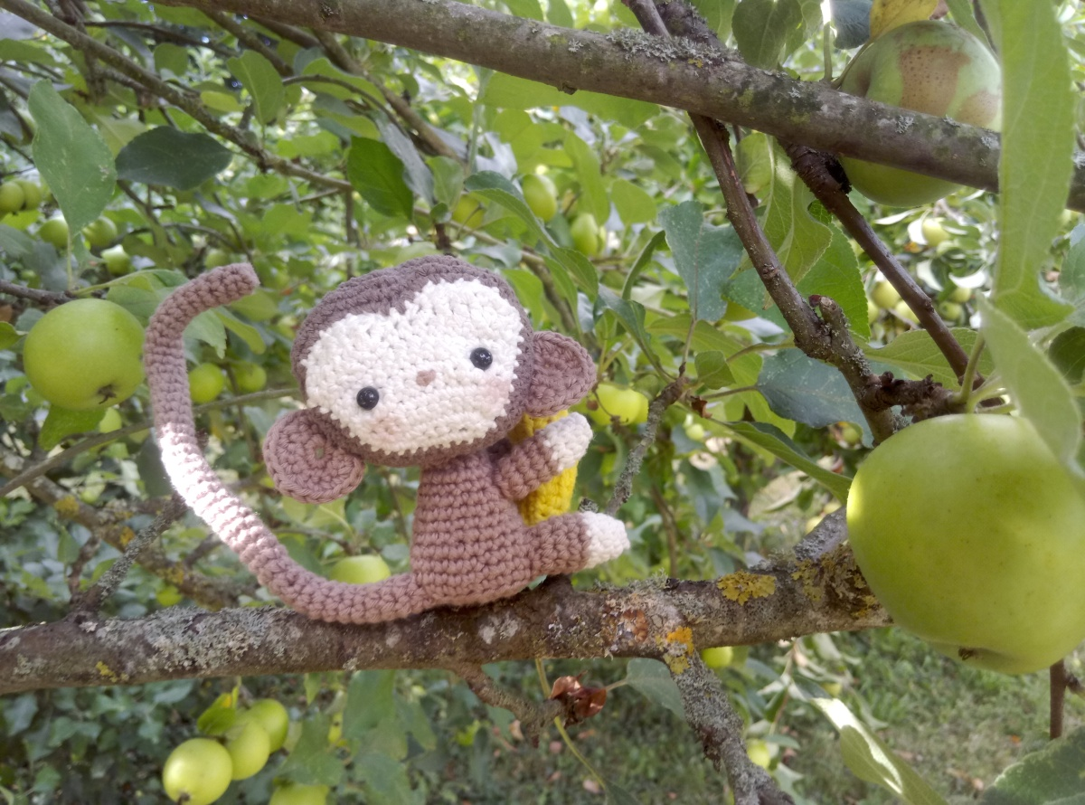 Amigurumi : traduction des explications du singe de All about Ami