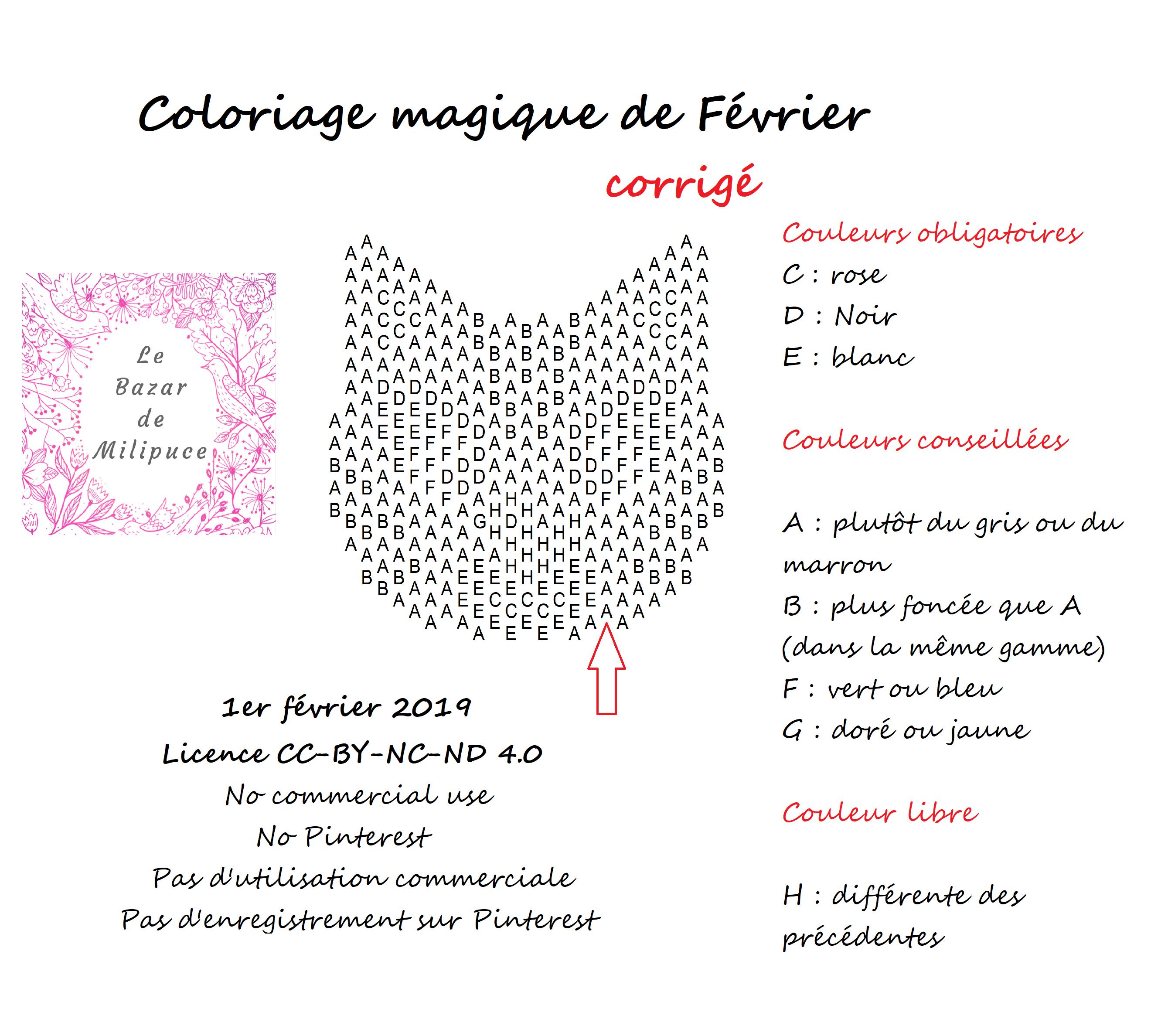 coloriage magique de février le bazar de milipuce rectification