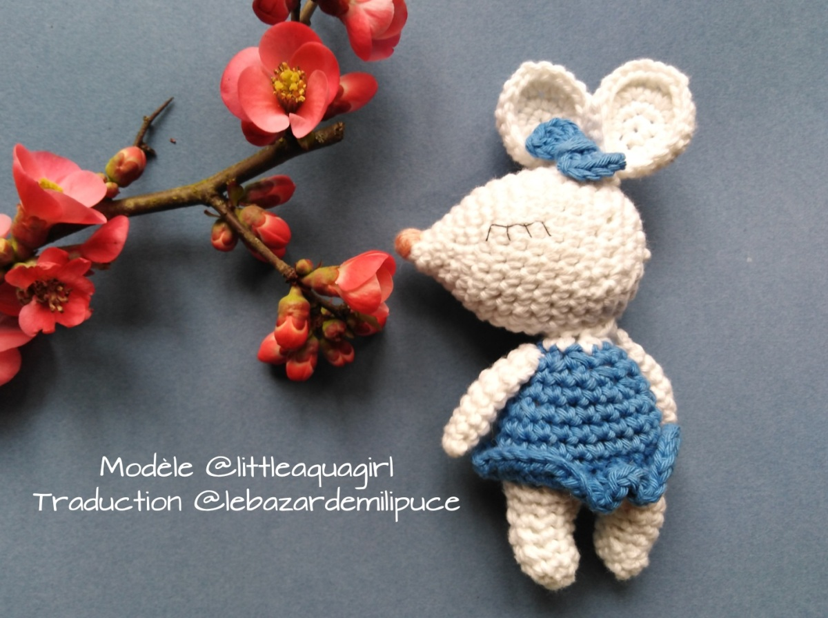 Amigurumi : traduction du modèle Margot de Little Aqua Girl