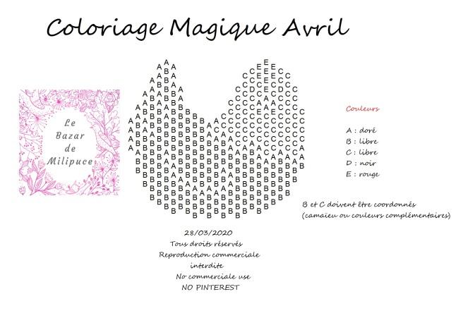coloriage magique avril le bazar de milipuce2